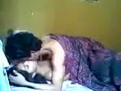 Молодая пара в порыве страсти забыли про включенную вебкамеру