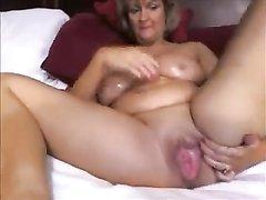Секс дома пожилой женщины