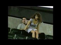 Реальный секс на стадионе