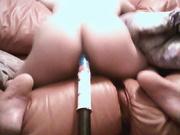 Мой огромный дилдо пронзает мой анал