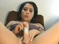 Экзотическая красотка в любительской мастурбации