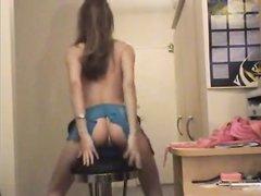 Любительский танец со стриптизом