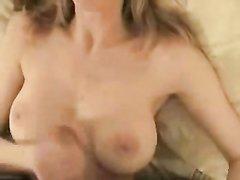 Любительский минет от блондинки в видео от первого лица и мастурбация члена
