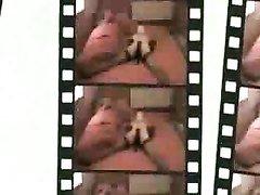 Странная дама в чулках и маске надела страпон в домашнем видео с любовником
