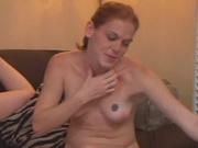 Рыжая немка обожает домашний секс с оральными ласками и окончанием на лицо