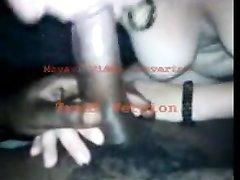 Большой чёрный член в любительском видео от первого лица сосёт белая проститутка