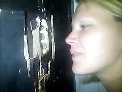 Минет от зрелой блондинки в любительском видео завершается окончанием в рот
