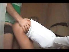 Шикарная блондинка в интимном видео трахается с любовником перед скрытой камерой