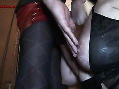 Незабываемый домашний секс с грудастой зрелой немкой и окончание на сиськи
