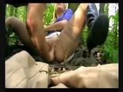 Немецкая блондинка в лесу назначила свидание для любительского секса с куни