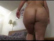 Толстая блондинка после домашнего минета готова к анальному сексу и глотанию спермы