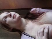 Рыжая леди с натуральными большими сиськами для секса завела с русского любовника