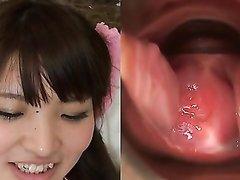 Рыжая японская студентка в домашнем видео обнажила розовую киску крупным планом
