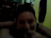Бразильская развратница в домашнем видео от первого лица сосёт член и трахается