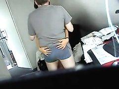 Утренний домашний секс зрелой пары подглядывают через скрытую камеру