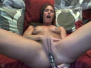 Домашняя мастурбация киски секс игрушкой от молодой красотки на вебкамеру