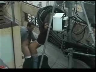 Видеосекс скрытой камерой на улице
