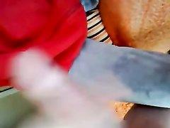 Домашний минет и мастурбация члена в видео от первого лица с окончанием в рот