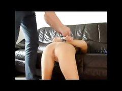 Домашняя анальная мастурбация секс грушкой для зрелой поклонницы БДСМ