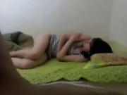 Корейская пара в азиатском видео трахается на кровати перед скрытой камерой