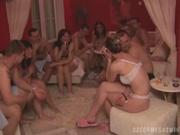Блондинка с бритой киской и маленькими сиськами награждена любительским сексом