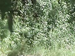 Любительское видео с подглядыванием за озабоченной парочкой на природе