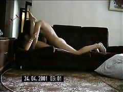 Зрелая леди с пылким студентом в любительском видео сблизилась на скрытую камеру