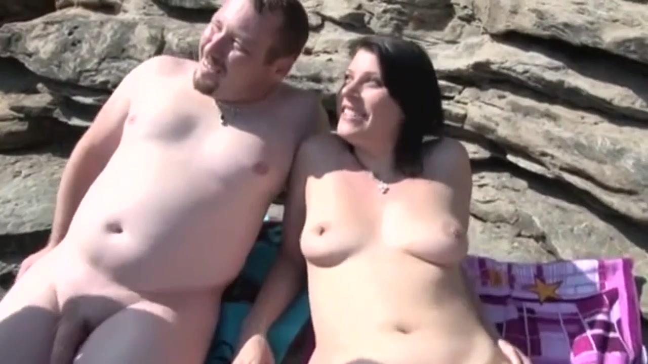 Секс на пляже со зрелой