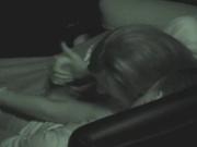 Подглядывание по любительской скрытой камере за супружеской парочкой