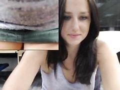 Домашняя мастурбация симпатичной студентки крупным планом на вебкамеру