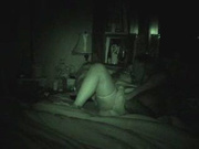 Вечернее подглядывание за зрелой толстухой в чулках трахающейся с любовником