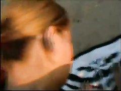 Домашний хардкор с рыжеволосой студенткой завершился окончанием на лицо