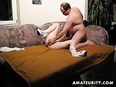 Скрытая камера для домашнего подглядывания за толстяком трахающим рыжую даму