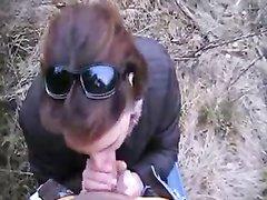 Пикапер от первого лица кончил в рот незнакомке сделавшей любительский минет