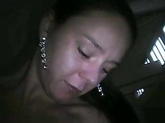 Возбуждённая женщина от первого лица сосёт член и трахается в мокрую щель