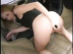 Рыжая леди с круглой попой балдеет от домашней мастурбации с игрушками