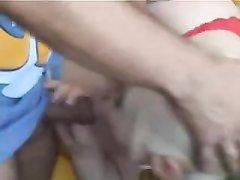 Гламурная немецкая блондинка трахается с любовником после горячего минета