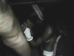 Негритянка в чулках после любительского минета трахается в шоколадную киску