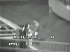 Скрытая камера для любительского подглядывания за трахающейся парой на улице