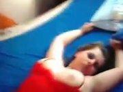 Грудастая немка трахается с любовником на карачках и лёжа на боку в постели