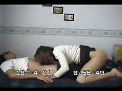 Супружеская измена замужней дамы с соседом снята домашней скрытой камерой
