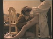 Домашнее подглядывание по скрытой камере за шикарным минетом сделанным дамой