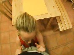 Жёсткий любительский анал от первого лица с блондинкой сделавшей минет