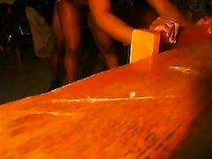 Негр жестко трахает раком молодую чернокожую студентку