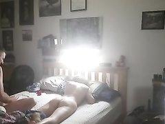 Сеанс домашнего секса с женой перед сном
