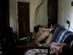 Русская парочка, у которой настоящая любовь, а потому и секс очень нежный попала на скрытую камеру