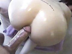 Домашний анальный секс с французской красоткой отсосавшей большой член