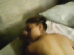 Минет и домашний анал от первого лица с искусной проституткой в белых чулках