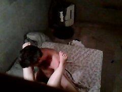 Зрелая толстуха перед скрытой камерой изменила супругу отдавшись любовнику