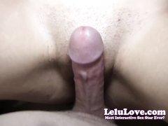 Красотка от первого лица бритой киской дрочит член любовника до оргазма